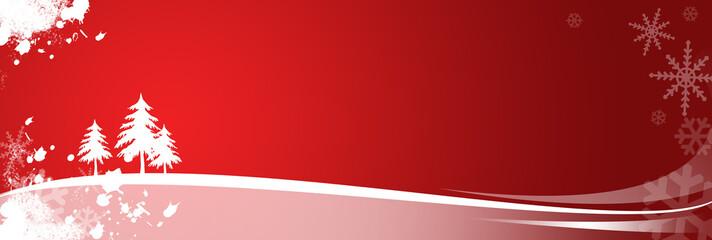 xmas landscape red
