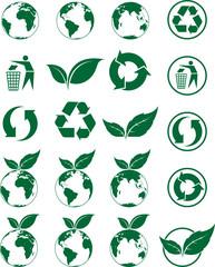 Kit d'icones écologie, image vectorielle