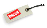 Tag with Sold out inscription poster