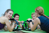 Fototapety women in a fitness center