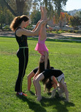 Fototapety Gymnasts in the park