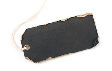 grunge black tag