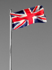 UK Flag in Colour/Monochrome Background