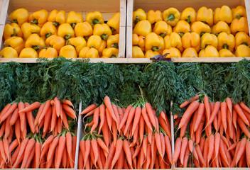 carottes et poivrons