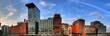 Leinwanddruck Bild - Skyline - Medienhafen Düsseldorf