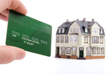 hand and plastic card payment for the house poster