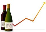Augmentation des ventes de vins poster
