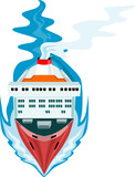 Passenger ship as steaming towards you poster