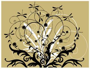Floral ornament: Vector