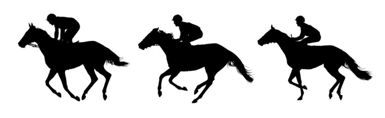 Very detailed vector of  jockeys and horses