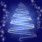 abstrakten Weihnachtsbaum