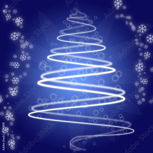 abstract christmas tree