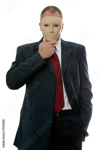 Businessman face mask Poster