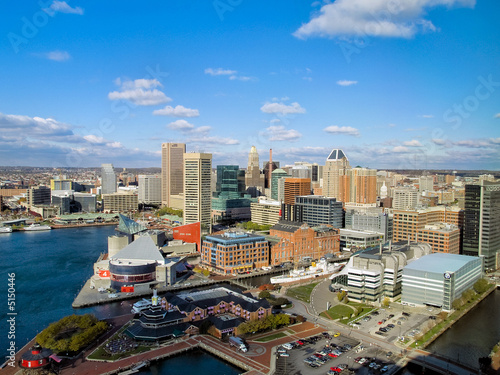 Fotobehang Poort Baltimore Harbor Overview