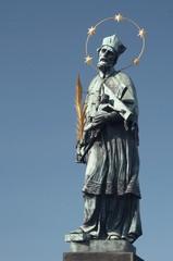 Saint John of Nepomuk statue on Charles bridge in Praque
