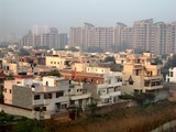 View over suburban Delhi