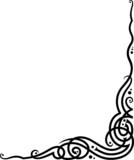 A conner vignette - vine shape floral ornament. poster