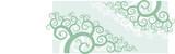 A corner vignette - swirl shape floral ornament. poster