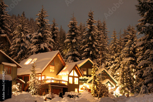 Leinwandbild Motiv Winter cabin