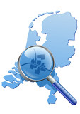 Etude du territoire des Pays-Bas poster