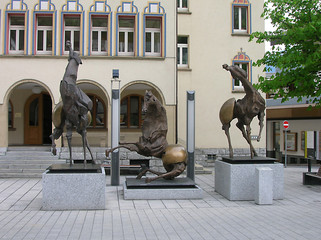 Statue di cavalli a Vaduz