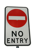 A no entry sign isolated on white poster