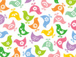 roleta: retro colorful fun icon chicks pattern