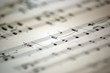 canvas print picture - music notes 3