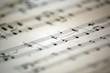 Leinwanddruck Bild - music notes 3