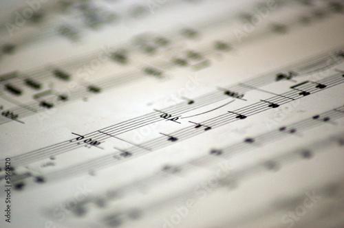Leinwanddruck Bild music notes 3