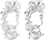Fototapety Baroque Two Styles: Traditional and Calligraphy