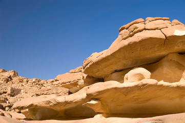 Weathered rock formations of Colored Canyon, Sinai, Egypt