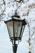 Ice-covered street lantern