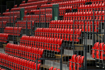 red stadium seating