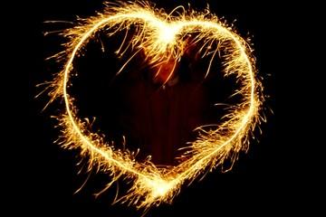 Herz Feuerwerk