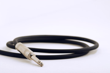 Instrument Cable on White Backdrop