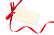Blank Tag with Red Ribbon - 5167855