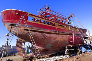 Morocco, Essaouira: fishing boats