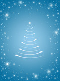 christmas tree in blue 3