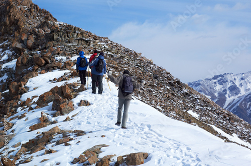 High mountains treking group © Maxim Petrichuk