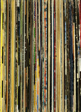 Old record collection background poster