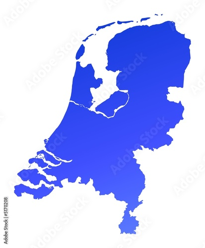 blue gradient Netherlands map