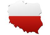 Fototapety Carte de la Pologne (Drapeau)