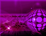 Telecommunication hi-tech abstract background design series poster