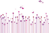 Fototapety abstract floral background