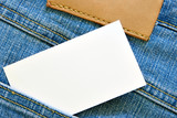 Visiting card in jeans pocket poster