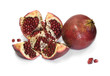 pomegranate - solid and partially cut fruits with sids