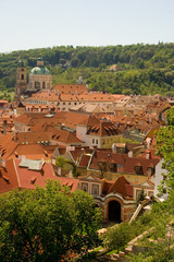 Famous red Prague roofs