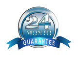 24 month guarantee icon poster