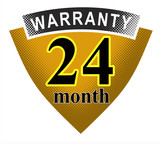 24 month warranty shield poster